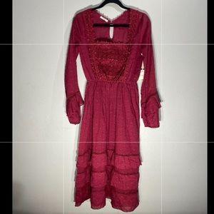 LE tarte**Stunning Burgundy Maxi Dress**Small $485